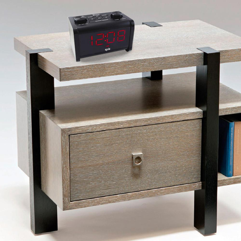 Bluetooth Speaker Clock Radio with Hands-Free Calling, Black