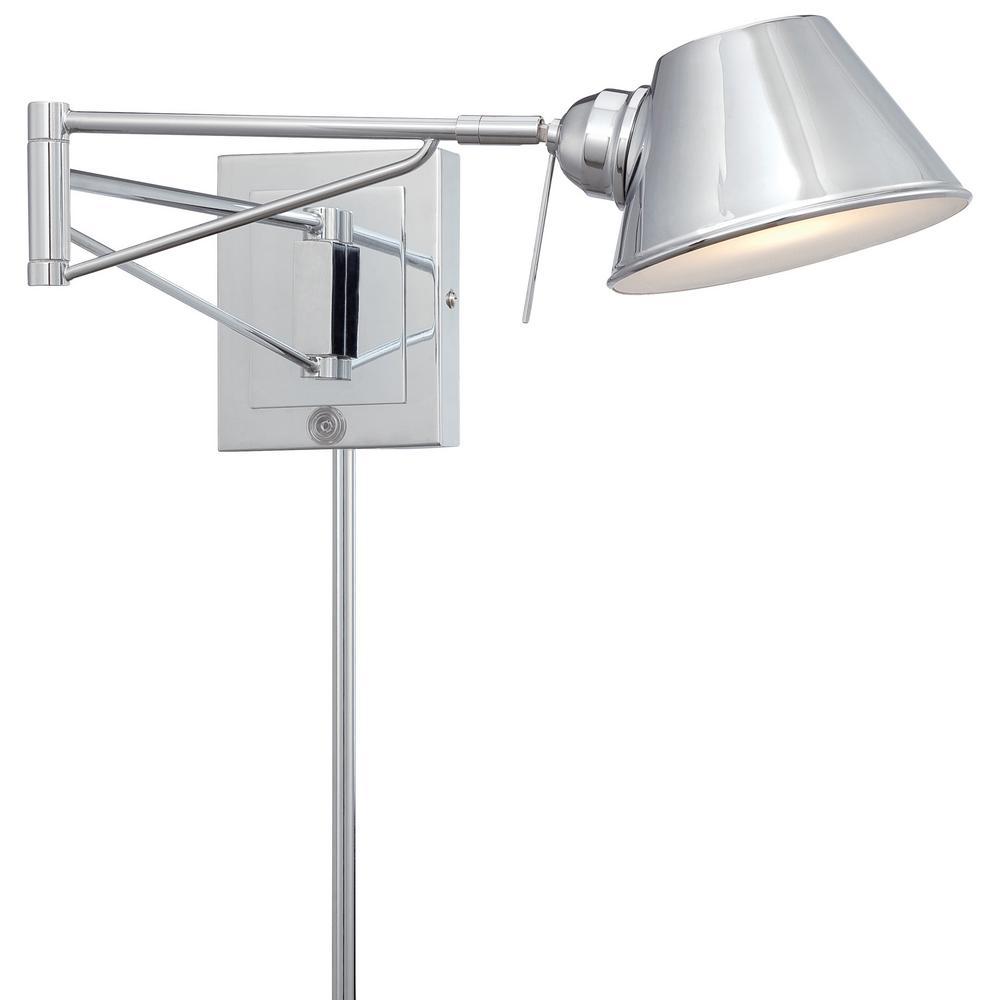 40 Watt Equivalent Chrome Integrated LED Swing Arm