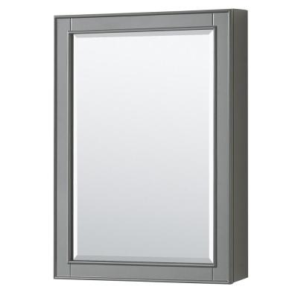 Deborah 24 in. W x 33 in. H Framed Rectangular Bathroom Vanity Mirror in Dark Gray