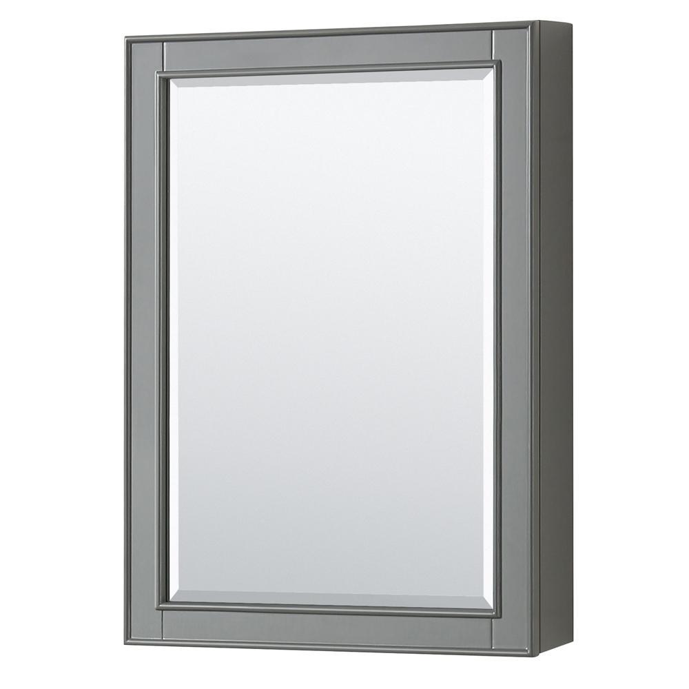 Deborah 24 in. W x 33 in. H Framed Wall Mirror in Dark Gray