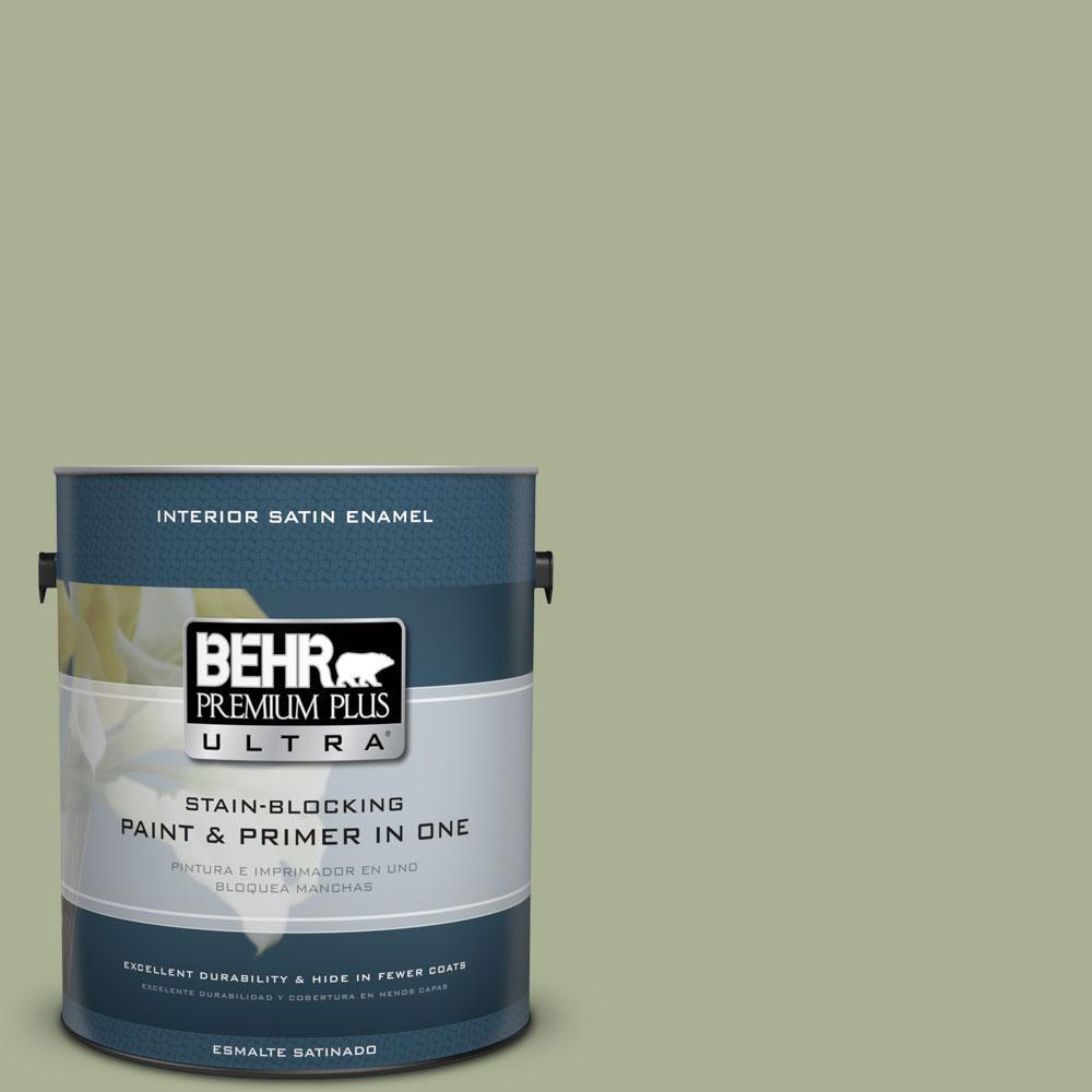 BEHR Premium Plus Ultra 1-Gal. #PPU10-6 Spring Walk Satin Enamel Interior Paint