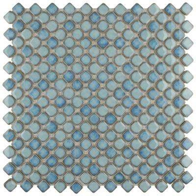 Hudson Diamond Marine 12-3/8 in. x 12-3/8 in. x 5 mm Porcelain Mosaic Tile