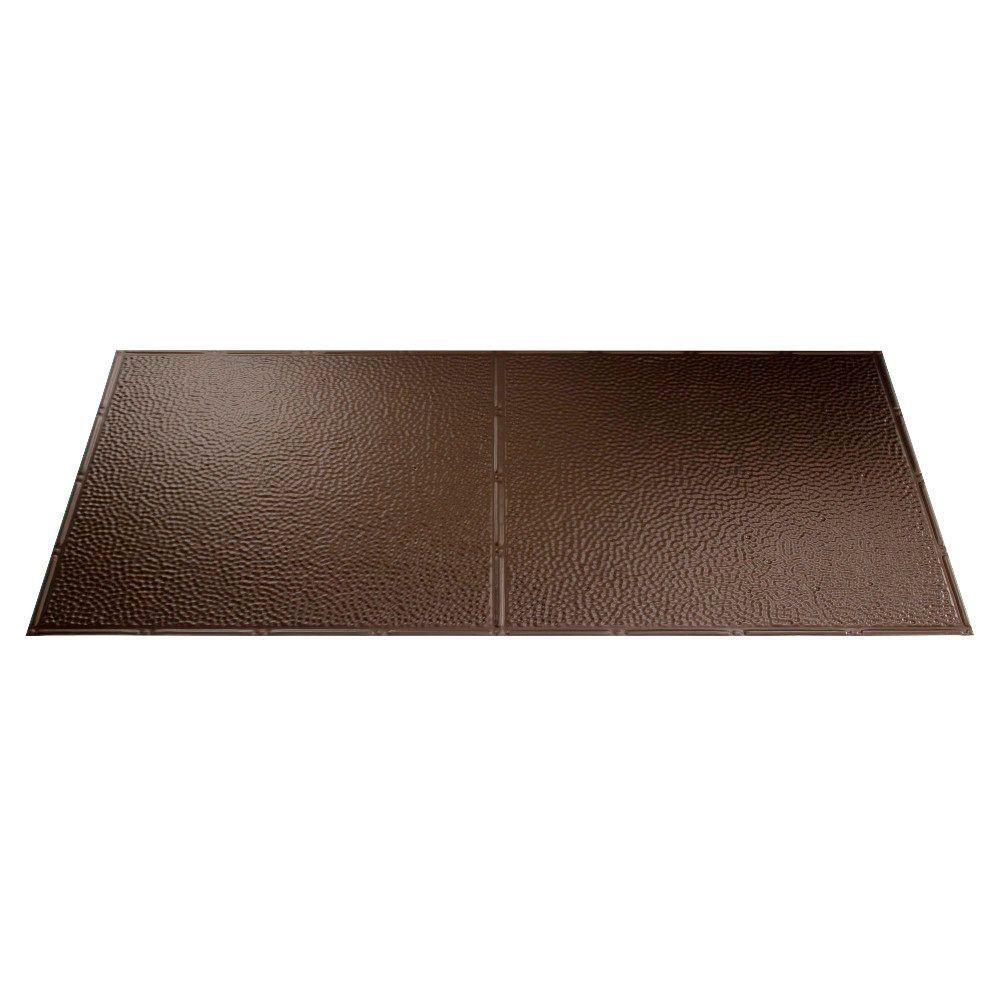 Fasade Border Fill 2 ft. x 4 ft. Argent Bronze Lay-in Ceiling Tile