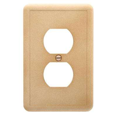 Decora Brown 1-Gang Audio/Video Wall Plate (1-Pack)