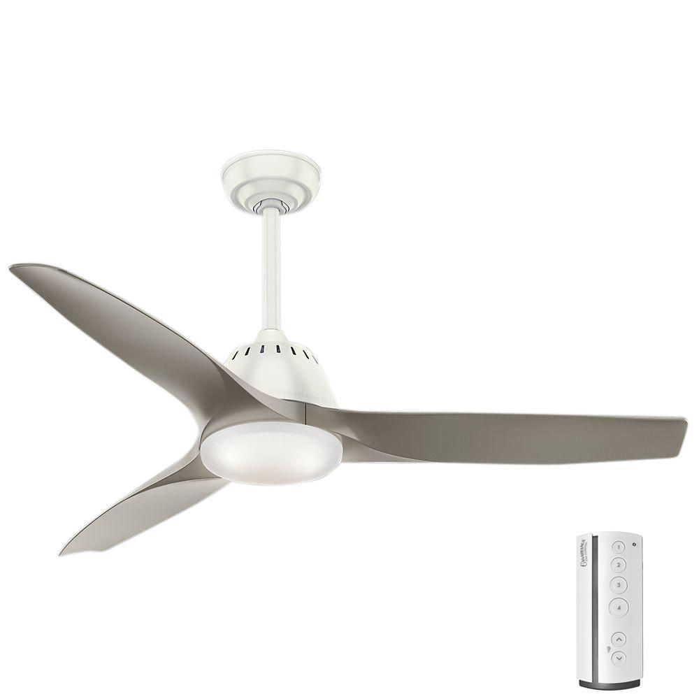 Wisp 52 in. LED Indoor Fresh White Ceiling Fan