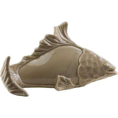 Thrios 11.42 in. x 6.5 in. Decorative Fish Sculpture in Tan