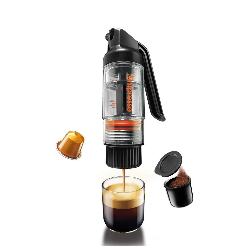 Simpresso Portable Black Espresso Machine with Filter