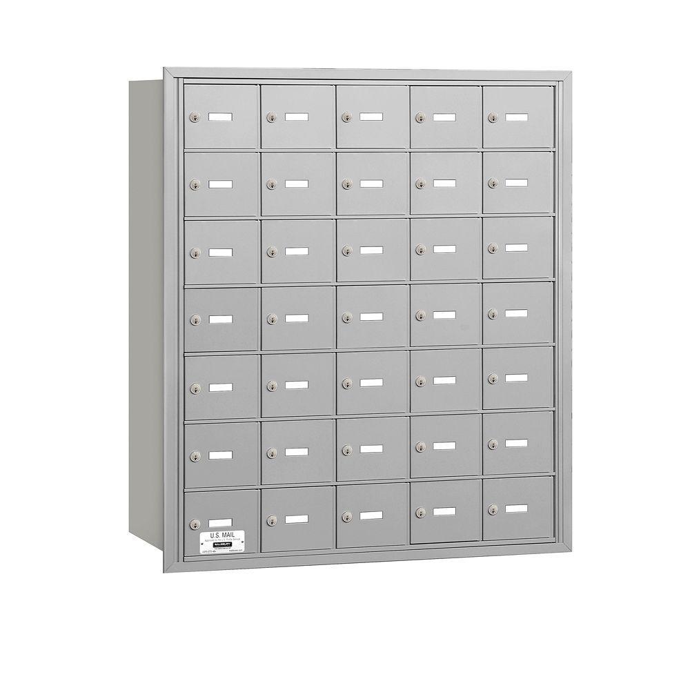 Aluminum USPS Access Rear Loading 4B Plus Horizontal Mailbox with 35A Doors