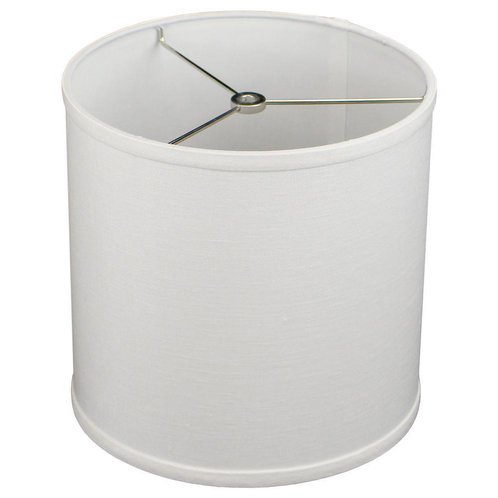 Fenchelshades 10 In Top Diameter X H Bottom Designer Linen Off White Drum Lamp Shade