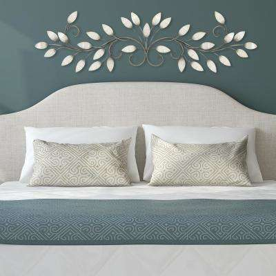 Brushed Pearl Metal Over The Door Wall Decor