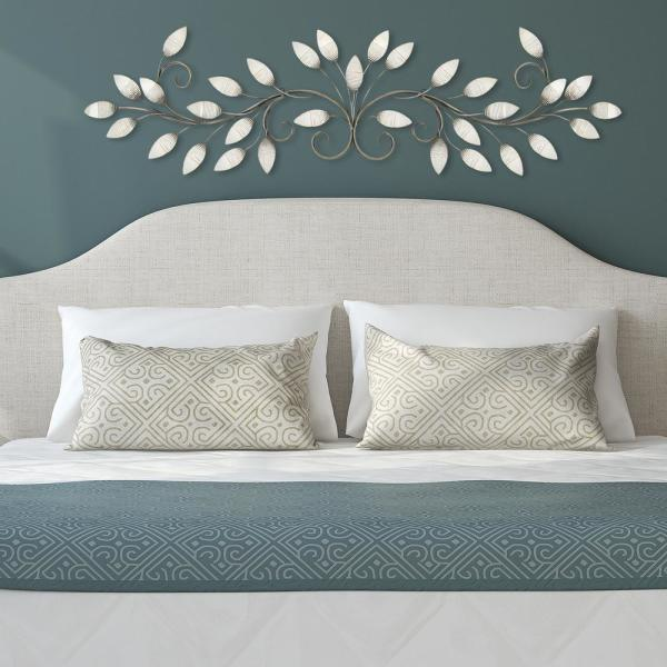 b742671406 Stratton Home Decor Brushed Pearl Metal Over The Door Wall Decor ...