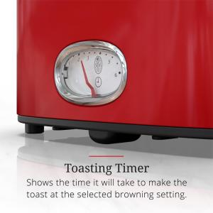 newest collection 5232e 8278e Russell Hobbs-Retro Style 2-Slice Red and Stainless-Steel Toaster