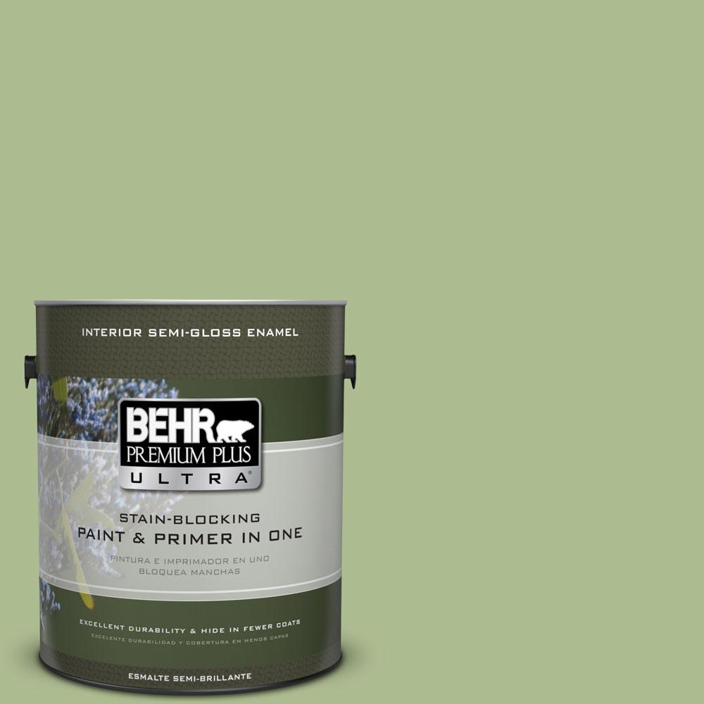 BEHR Premium Plus Ultra 1-gal. #M370-4 Chervil Leaves Semi-Gloss Enamel Interior Paint
