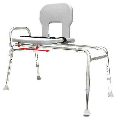 Bariatric Sliding Transfer Bench - Regular (Base Length: 39 in. to 40 in.) 500 lb. Weight Capacity, Heavy-Duty