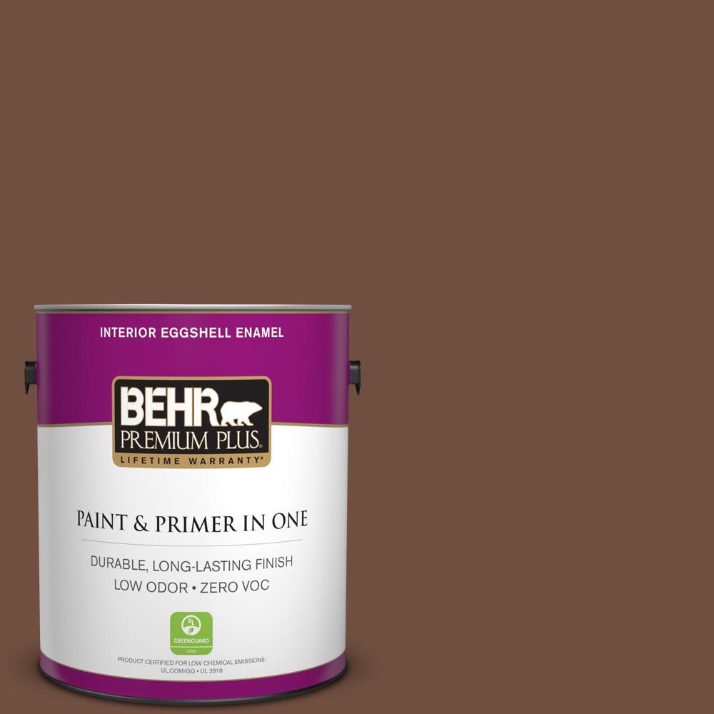 1 gal. #HDC-FL15-04 Cinnamon Crumble Zero VOC Eggshell Enamel Interior Paint