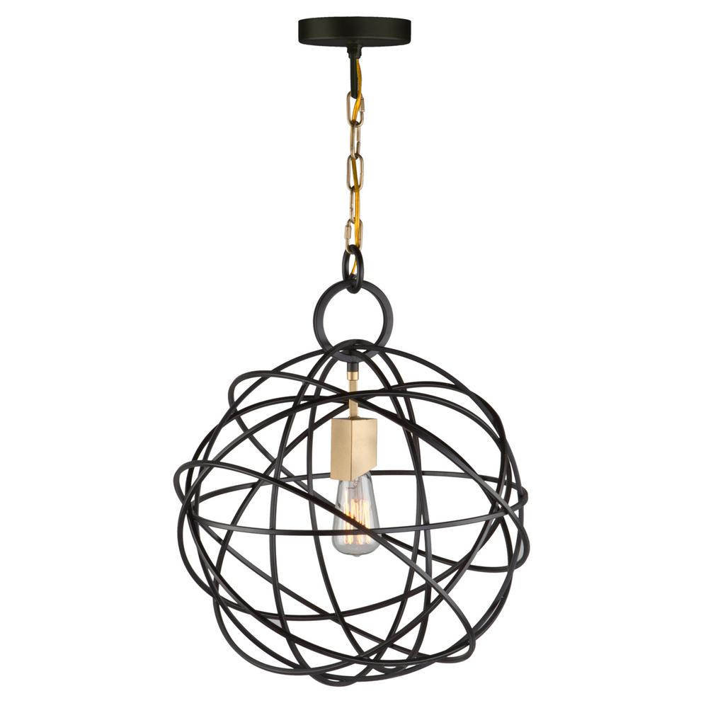 1-Light Oil Rubbed Bronze Chandelier