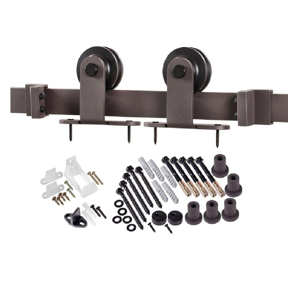 This Review Is From:78.75 In. Bronze Top Strap Barn Door Hardware