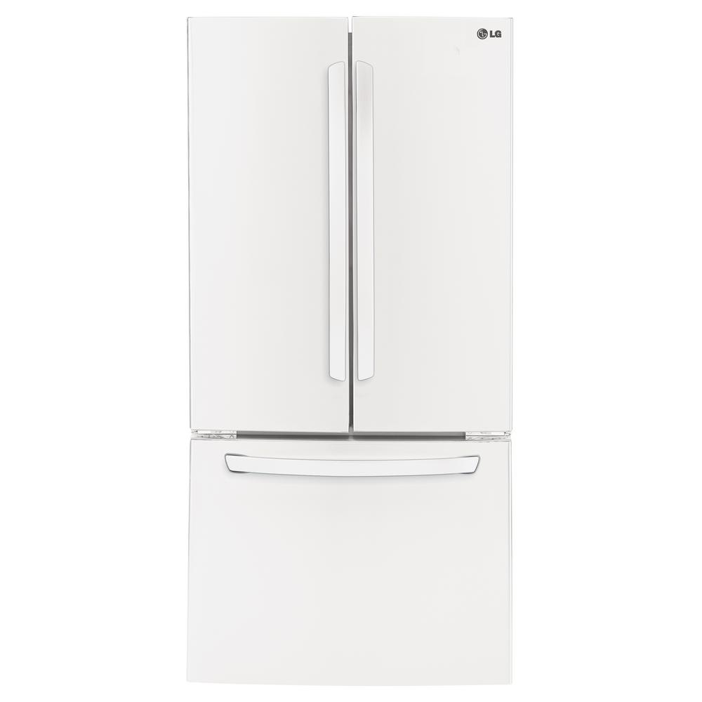 Lg Electronics 24 Cu Ft French Door Refrigerator In Smooth White