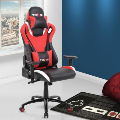 Red and Black Ergonomic High Back Racer Style Video Gaming Chair