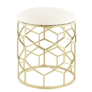 Reign 15.5 in. x 19.75 in. Stool in Gold