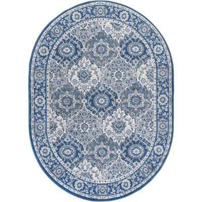 Madison Navy 5 ft. 3 in. x 7 ft. 3 in. Oval Area Rug