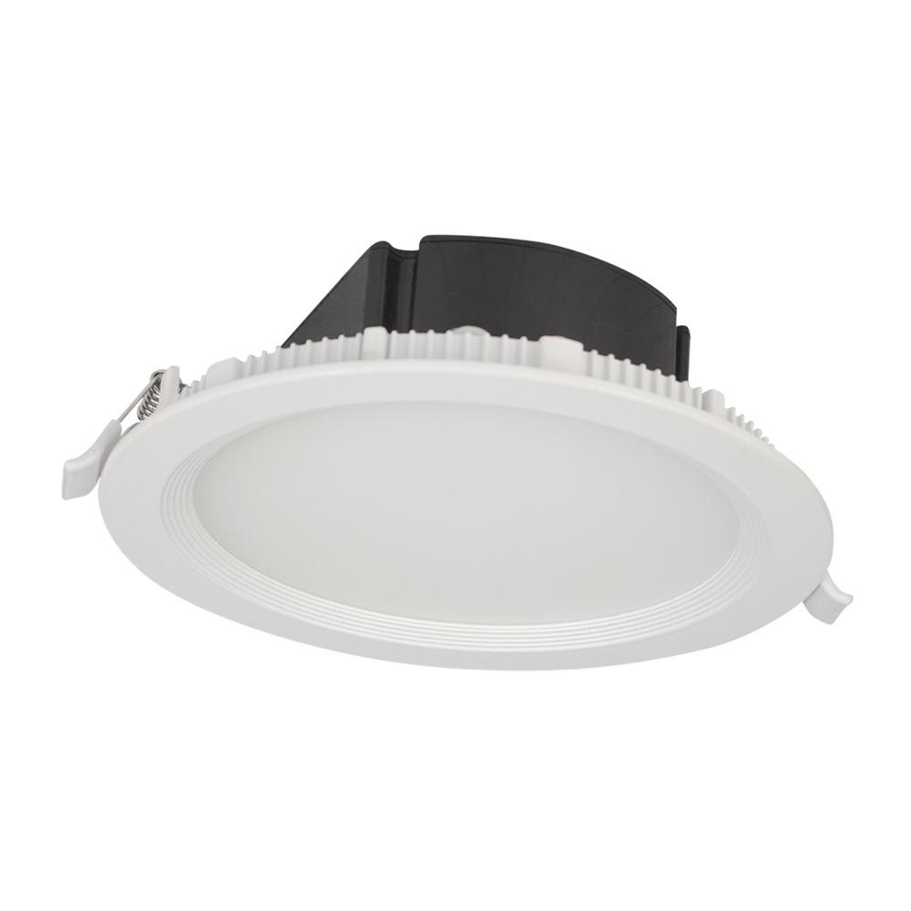 Bazz recessed lighting lighting the home depot top box slim matte white integrated led recessed fixture kit aloadofball Images