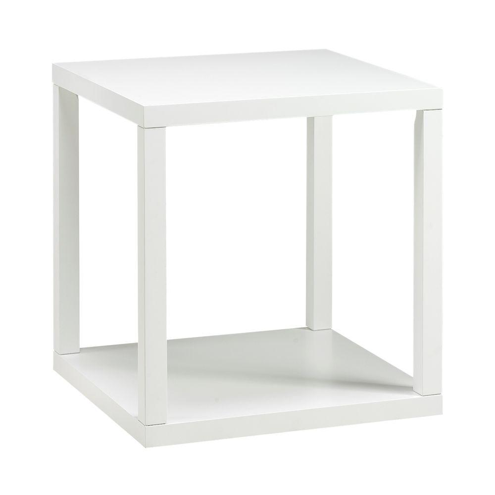 Home Decorators Collection 22 in. W Parsons White End Table