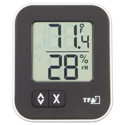 Moxx Digital Thermo-Hygrometer with Comfort Icon in Black