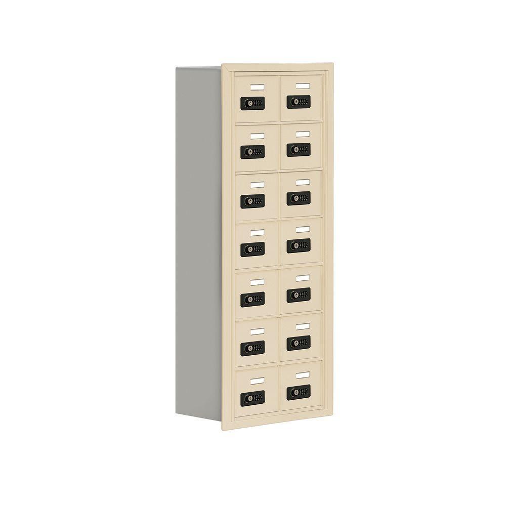 19000 Series 17.5 in. W x 42 in. H x 8.75 in. D 14 A Doors R-Mount Resettable Locks Cell Phone Locker in Sandstone