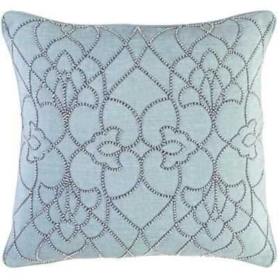 Romilly Blue Graphic Polyester 18 in. x 18 in. Throw Pillow