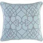 Romilly Blue Graphic Polyester 22 in. x 22 in. Throw Pillow