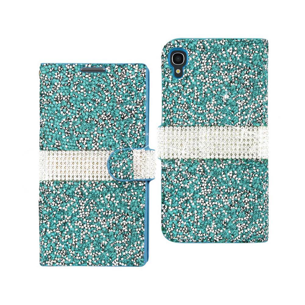 REIKO Alcatel One Touch Idol 3 Folio Case in Blue