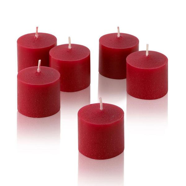 Light In The Dark 10 Hour Red Apple Cinnamon Scented Votive Candles Set Of 12 Litd V1012 Ac The Home Depot