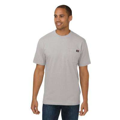 Men's Large Heather Gray Heavy Weight Crew Neck T-Shirt