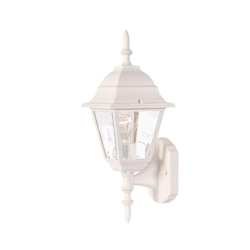 Builder's Choice Collection 1-Light Textured White Outdoor Wall-Mount Fixture