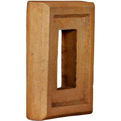 2 in. x 6-1/4 in. x 8-1/4 in. Arizona Gold Urethane Universal Electrical Outlet for Stone and Rock Wall Panels