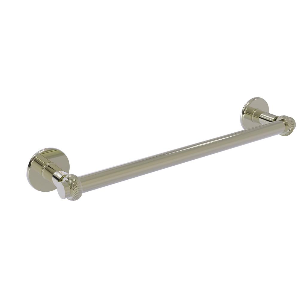 Continental Collection 18 in. Towel Bar with Twist Detail in Polished