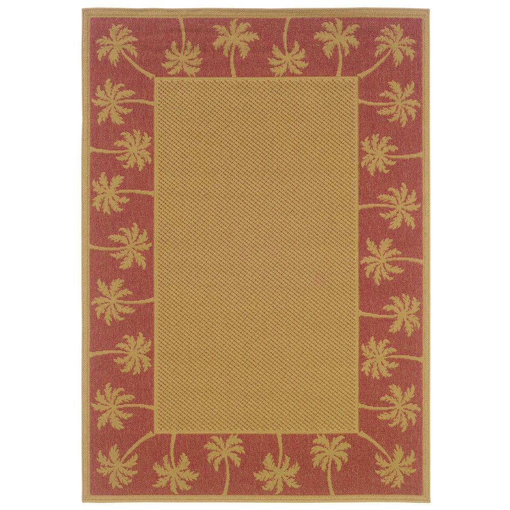 Oriental Weavers Nevis Passage Tan Red 7 Ft 3 In X 10 Ft