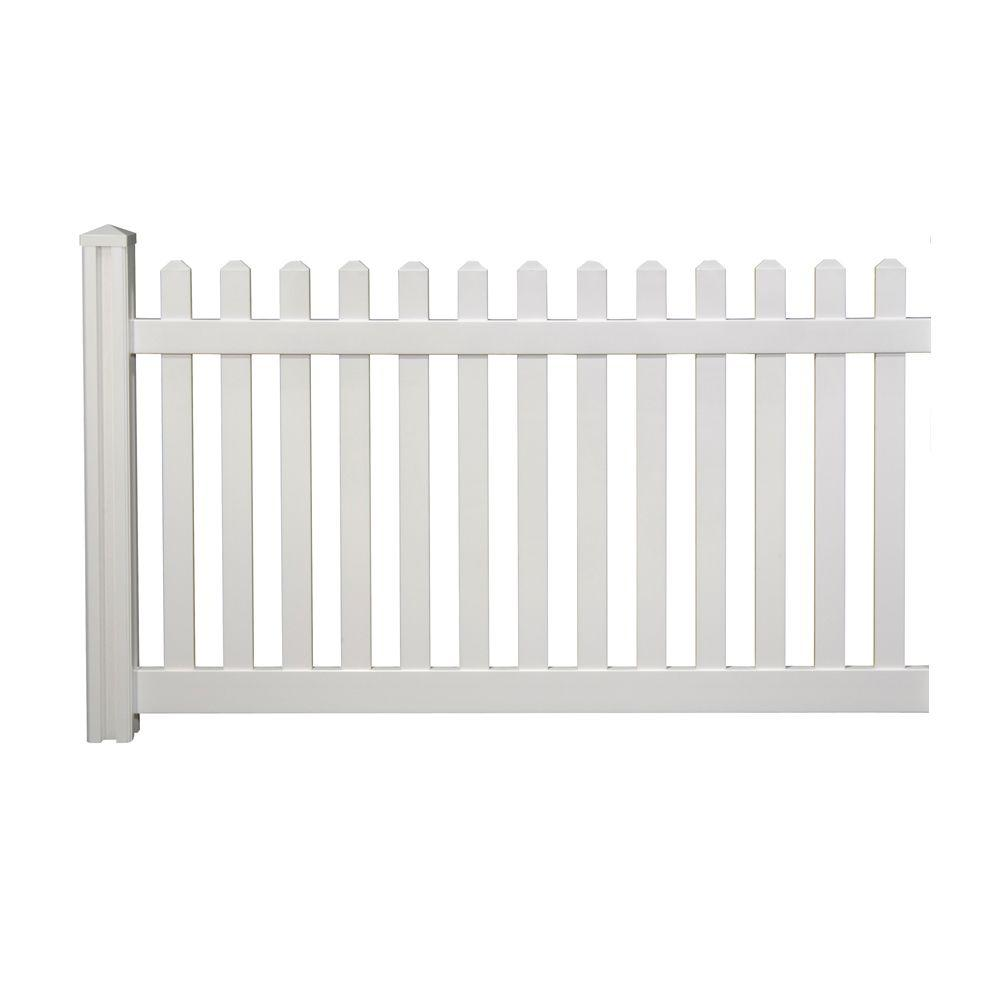 vinyl fence panels home depot. WamBam Fence 4 Ft. H X 7 W Premium Vinyl Classic Picket Panel With Post And Cap-VF13003 - The Home Depot Panels C