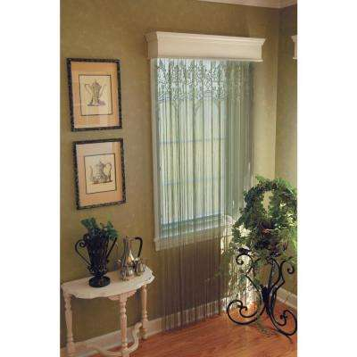 Semi-Opaque Gala 60 in. L Polyester Valance in Silver Sage