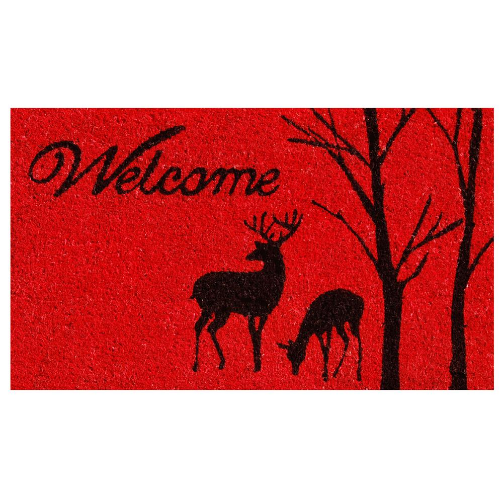 Home & More Winter Welcome 17 in. x 29 in. Coir Door Mat