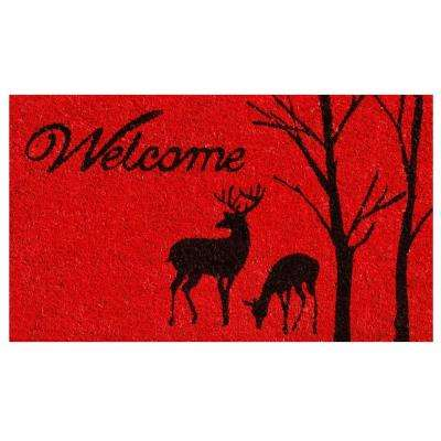 Winter Welcome 17 in. x 29 in. Coir Door Mat