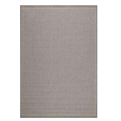 Saddlestitch Grey/Champagne 8 ft. x 11 ft. Area Rug