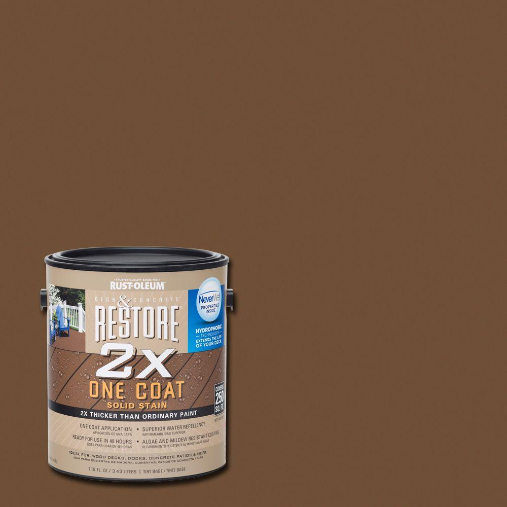 Rust-Oleum Restore 1 gal. 2X Chocolate Solid Deck Stain with NeverWet