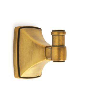 Clarendon Wall Mount Single Robe Hook in Gilded Bronze