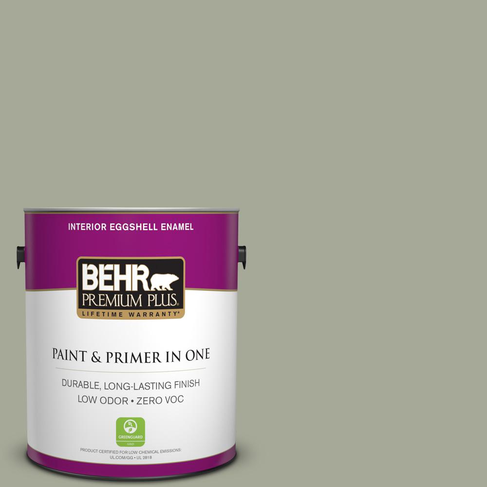1 gal. #PPU10-16 Simply Sage Zero VOC Eggshell Enamel Interior Paint