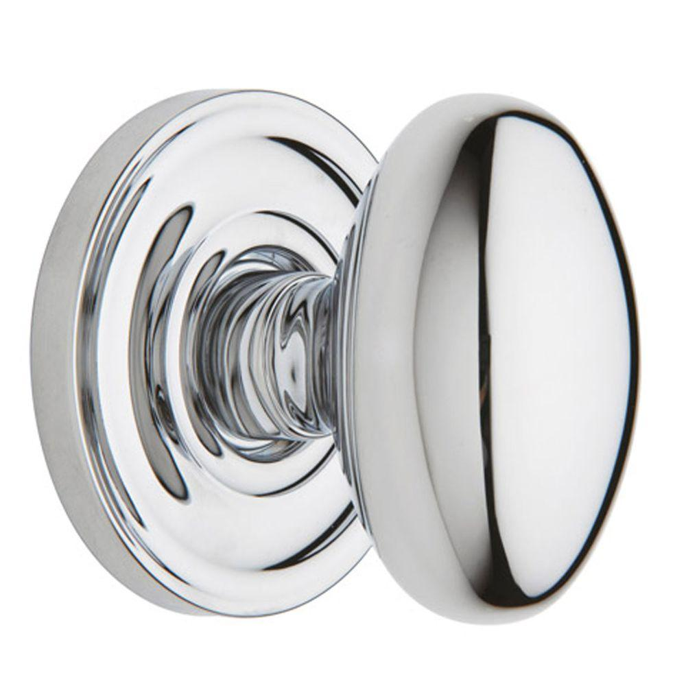 Baldwin Egg Polished Chrome Hall/Closet Knob-DISCONTINUED