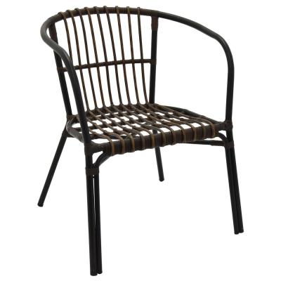 30.25 in. Brown Metal Chair