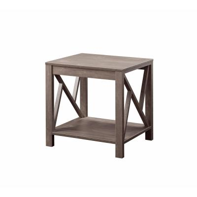 Furniture Of America Hobson Hazelnut End Table Idi 182264et The Home Depot