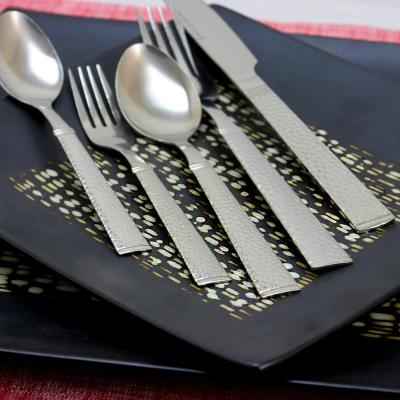 Prato 65-Piece Flatware Set with Wire Caddy (Service for 4)